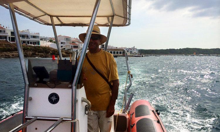 Juan taxi boat Menorca